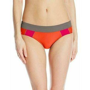Prana Zuri Orange Pink Bikini Bottom